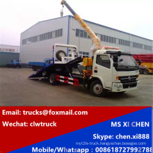 DFAC 3tons Wrecker Tow Truck with 3000kg Crane Truck Wrecker